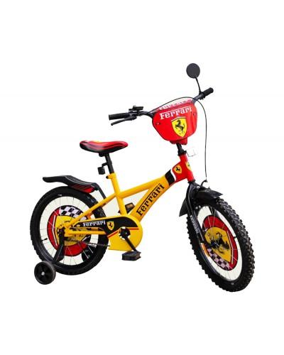 "Велосипед 2-х колес 16' 111605 ""Ferrari""со звонком, зеркалом, с вставками в кол.,"