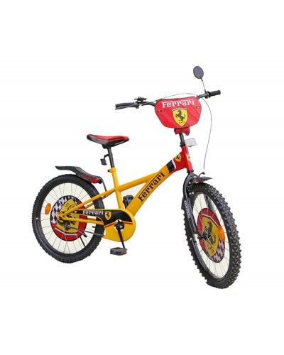 "Велосипед 2-х колес 18' 111808 ""Ferrari""со звонком, зеркалом, с подножкой"