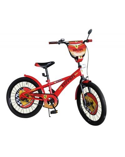 Велосипед 2-х колес 18' 171805 со звонком, зеркалом