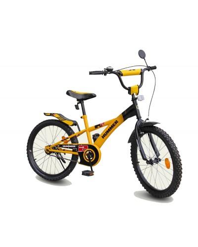 "Велосипед 2-х колес 18' 111809 ""Hummer""со звонком, зеркалом, подножкой"