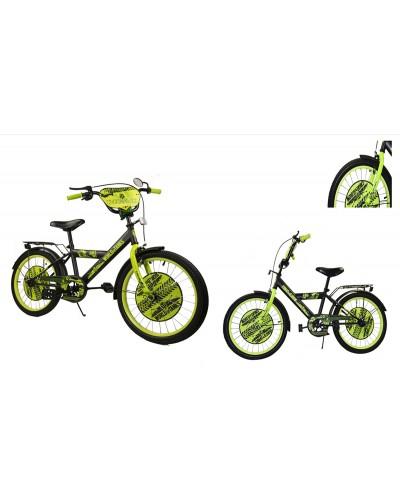 Велосипед 2-х колес 18' 181848 со звонком, зеркалом, руч.тормоз