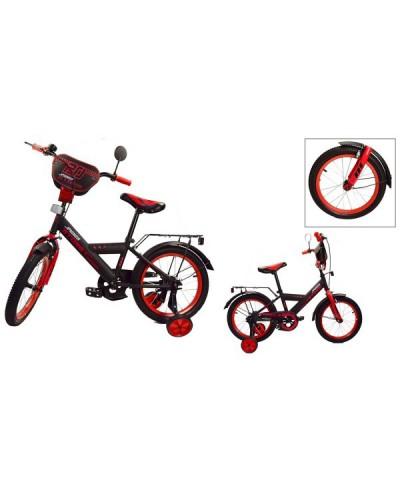 Велосипед 2-х колес 18' 181842 со звонком, зеркалом, руч.тормоз