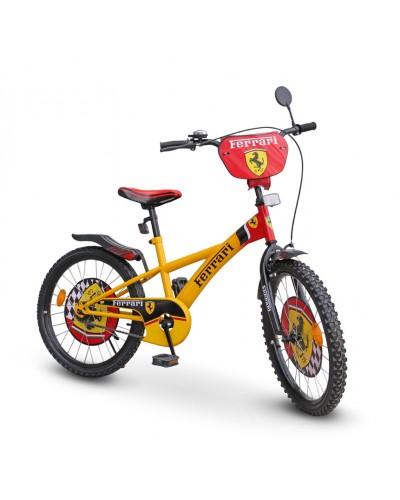 "Велосипед 2-х колес 20' 112001 ""Ferrari""со звонком, зеркалом, с подножкой"