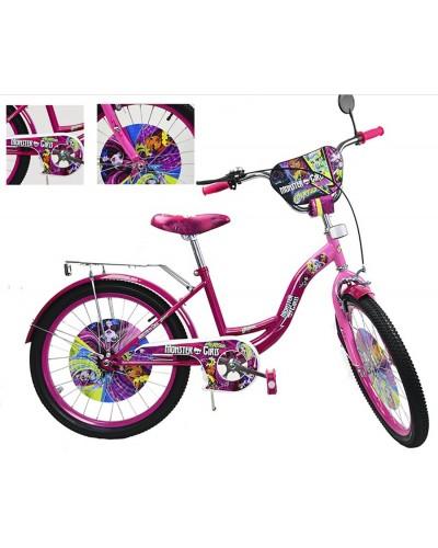 Велосипед 2-х колес 20' 182006 со звонком, зеркалом, руч.тормоз, без доп.колес