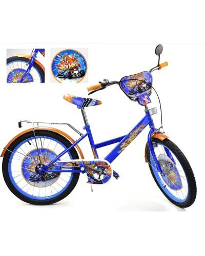 Велосипед 2-х колес 20' 182009 со звонком, зеркалом, руч.тормоз, без доп.колес