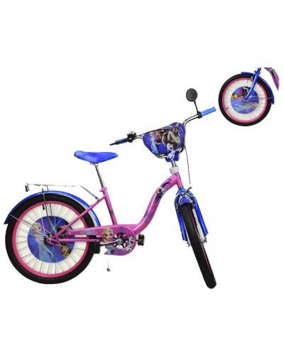 Велосипед 2-х колес 20' 182024 со звонком, зеркалом, руч.тормоз, без доп.колес