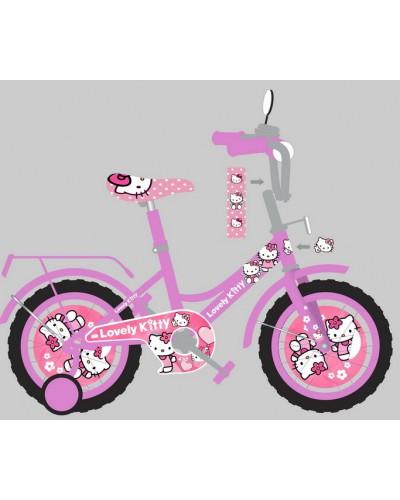 Велосипед 2-х колес 14' 181405 со звонком, зеркалом, руч.тормоз