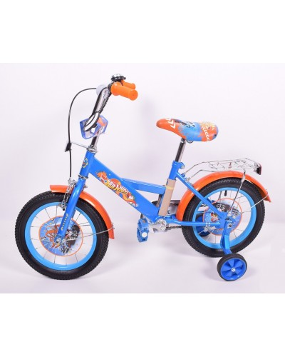 Велосипед 2-х колес 14'' 181409 со звонком, зеркалом, руч.тормоз