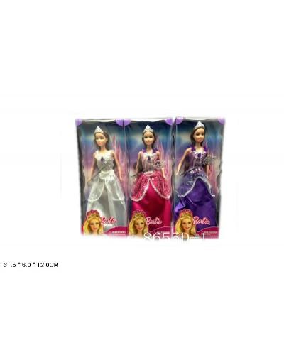 """Кукла """"B"""" 8655D-1 3 вида, с волшебной палочкой, в кор.31*6*12см"""