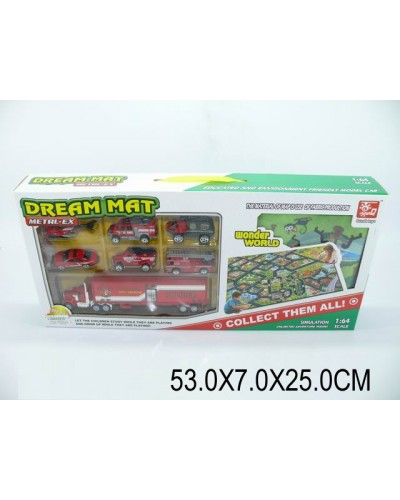 Игровой коврик SQ80667-4  коврик,6 машинок в кор.48,5*7*21см