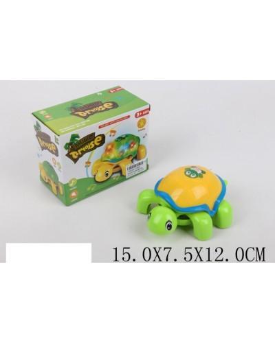 Муз. черепашка 1988A  батар., муз., свет, в коробке 5*7,5*12 см