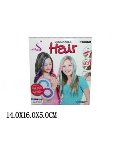 """Косметика """"Мелки для волос"""" 89020 с мягкими крышечками для зажима волос, в кор.14"""