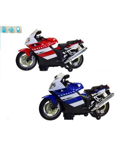 Мотоцикл батар. 2023A 2 вида, в коробке 33*13*19см