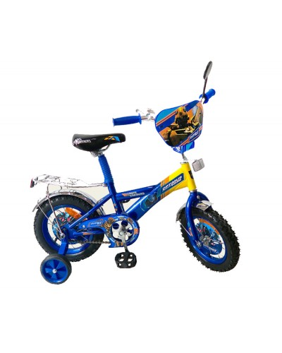 "Велосипед 2-х колес 12"" 171224 со звонком, зеркалом, без ручного тормоза"
