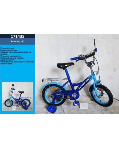 Велосипед 2-х колес 14' 171435 со звонком, зеркалом, руч.тормоз