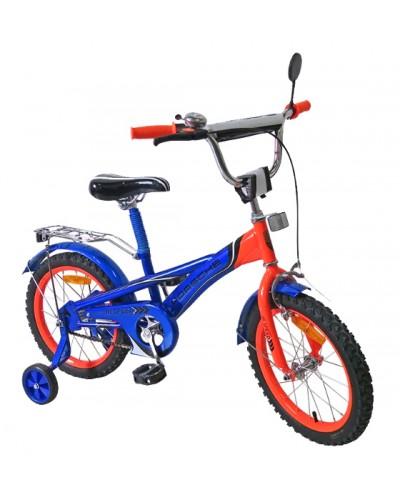 Велосипед 2-х колес 16'' 171632 со звонком, зеркалом, руч.тормоз