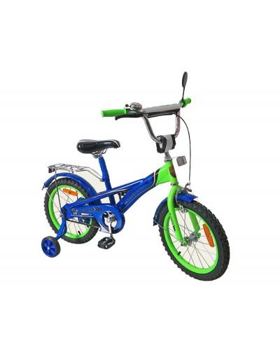Велосипед 2-х колес 16'' 171635 со звонком, зеркалом, руч.тормоз