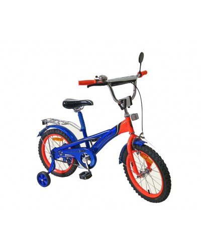 Велосипед 2-х колес 16'' 171639 со звонком, зеркалом, руч.тормоз