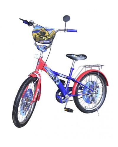 Велосипед 2-х колес 18' 171807 со звонком, зеркалом