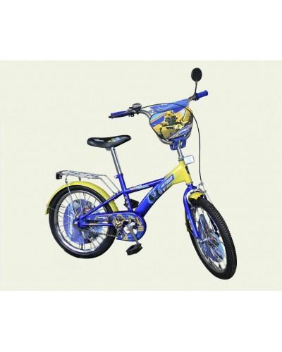 Велосипед 2-х колес 20' 172007 со звонком, зеркалом, без доп.колес