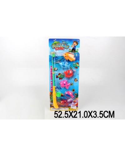 Рыбалка 835 магнит., удочка, рыбки, на планшетке 52,5*21*3,5см