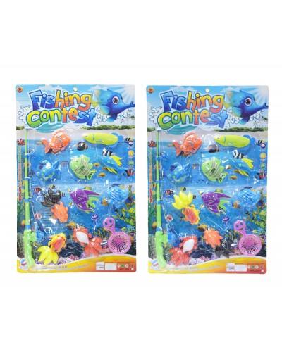 Рыбалка 255-70/255-71 2 вида, магнит. удочка, рыбки, сито, на планш. 68*43 см
