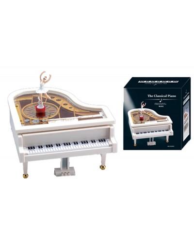 "Шкатулка муз ""Пианино"" YL2012 с балеринкой, в кор 15*16*17,5см"