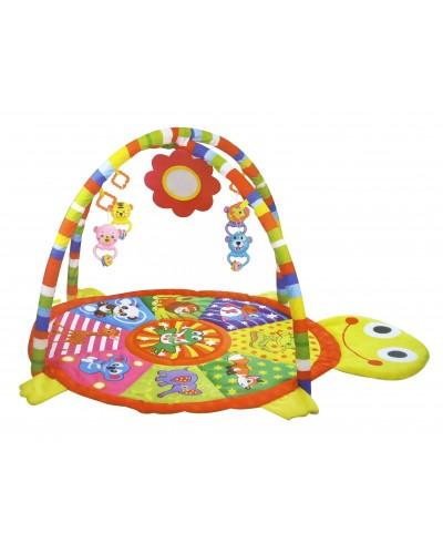 Коврик для малышей PG501/8  с погремушками на дуге, в сумке 62*5*59,5см
