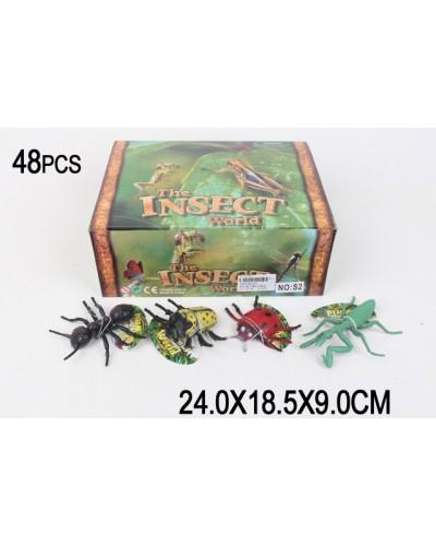 Животные S2  насекомые,/48 шт в боксе/  в боксе 24*18,5*9см