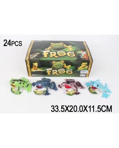 Животные Y28  лягушки,/24 шт в боксе/  в боксе 33,5*20*11,5см
