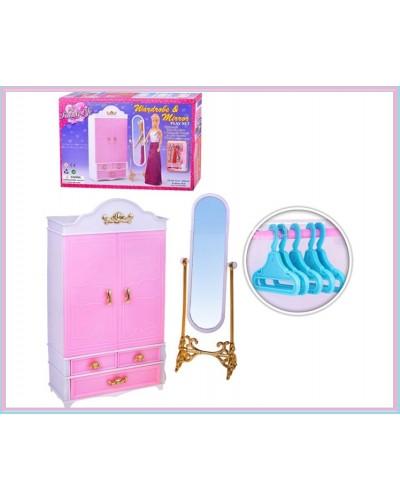 """Мебель """"Gloria"""" 2313 шкаф-гардероб, напольное зеркало,, в кор. 29*18*6см"""
