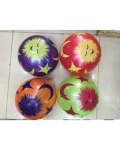 """Мяч резиновый RM1707 9"""", 60грамм,4 цвета"""