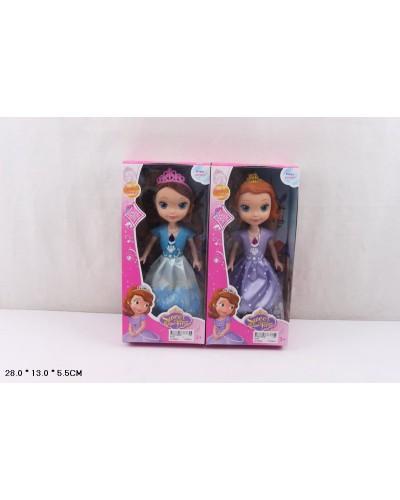 Кукла  819A  2 вида микс, свет, в кор 28*13*5,5 см