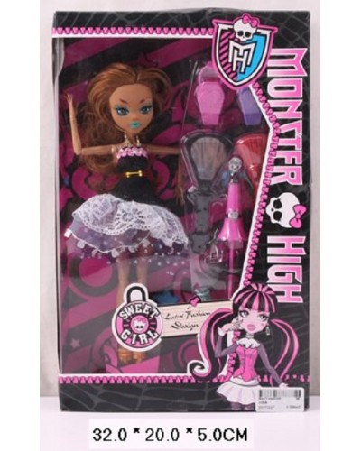 """Кукла """"MH"""" 336B с аксессуарами, в кор. 32*20*5 см"""