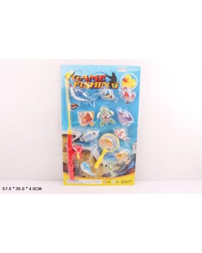 Рыбалка 555-25 магнит., удочка, рыбки, на планшетке 57*35*4см