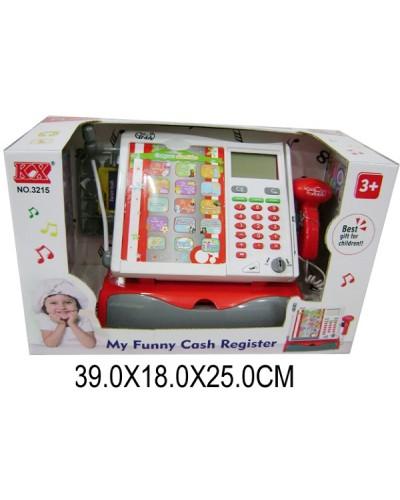 Кассовый аппарат 3215N батар, звук, сканер, калькулятор в кор. 39*18*25см