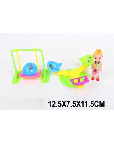 Кукла маленькая CS355-2 качелька, карусель, в пакете 12,5*7,5*11,5см