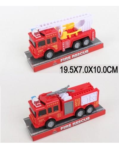 Машина инерц 129-1/4 пожарная,  2 вида, под слюдой 19,5*7*10см