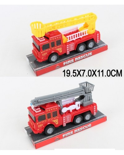 Машина инерц 129-2/3  пожарная,  2 вида, под слюдой 19,5*7*11см