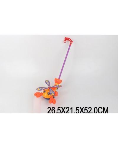 Каталочка крабик 8587  на палочке, в пакете 26,5*21,5*52см