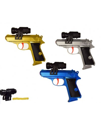 Пистолет 400-1 лазер, пульки резиновые, в коробке