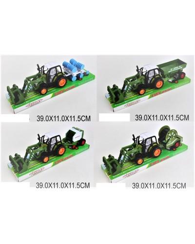 Трактор инерц. 1608-11/2/3/4 4 вида, под слюдой 39*11*11,5см