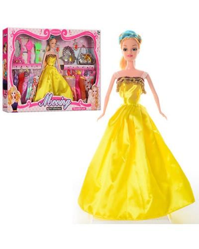 Кукла  YX032A 6 видов, с куколкой, коляской, аксесс, набором платьев, в кор.55*5,5*33см
