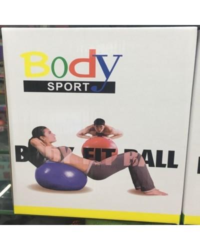 Мяч резин.для фитнеса YW18075  в кор. 75 см