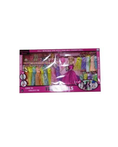 """Кукла типа """"Барби"""" 116-21A 6 видов, куколкой, набором платьев, аксесс, в кор.67*7*34см"""