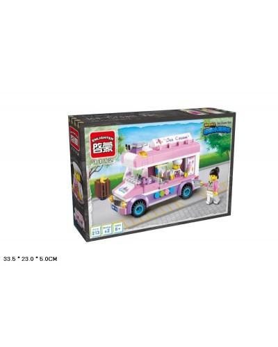 """Конструктор """"Brick"""" 1112 """"Машина- Мороженное"""" 213 дет., 6+лет,  в кор. 32*5*19см"""