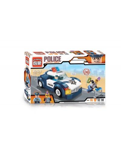 """Конструктор """"Brick"""" 1901  """"Police"""" в собр.кор., 114дет., 22*14,5*4,5см"""