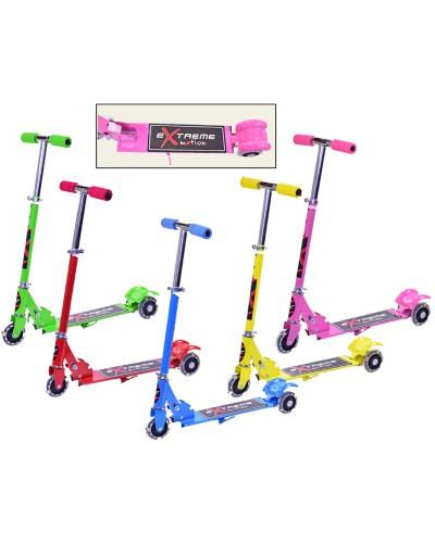 Самокат 13002 'Extreme Motion' железо, 3 колеса PVC, колеса 100мм, свет, 5 цветов