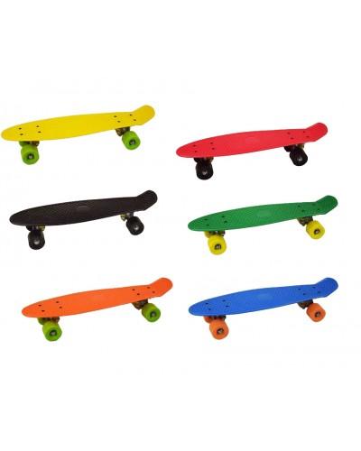 Скейт SC17067 металл.крепления, колеса PVC, 8 цветов, в коробке 55*15*10см