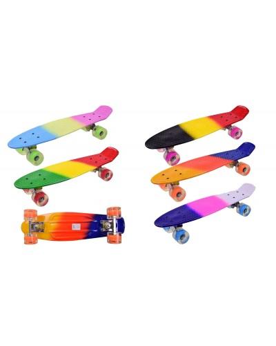 Скейт SC17052 металл. крепления, колёса PU, 55*14см